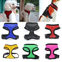 MediuM dog Mesh vest harness online shopping - Nylon Pet Mesh Harness Soft Net Dog Mini Vest Adjustable Breathable Puppy Harness Dog Supplies HH7