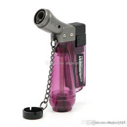 bong lighters Australia - Mini Spray Gun Butane gas torch Jet Lighter Torch 1300 C Windproof Refillable metal Cigarette cigar Torch lighter for bong dhl free