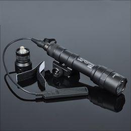 400 Lumens Tactical SF M600B Scout Light Lanterna Airsoft Flashlight Hunting Keymod Picatinny Rail Mount Gun Light on Sale