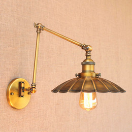 Led Lamps Iwhd Silver Retro Vintage Wall Light Led Wandlampen Swing Long Arm Wall Lamp Loft Industrial Lighting Sconce Appliques Murales