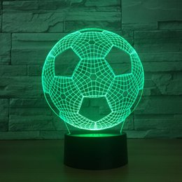 China 2in1 New Bluetooth Player with Night lights 3D Football Shape Nightlight Table lamp Speaker Perfect gift for Children Kids supplier table mp3 player suppliers