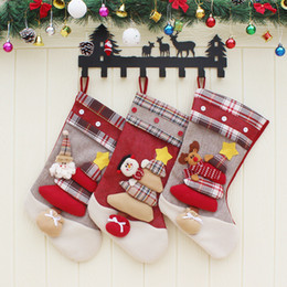 $enCountryForm.capitalKeyWord NZ - Christmas Daily Goods Door Hanging Indoor Christmas Decoration Cute Christmas Socks Children's Bedsaie Gift Bags  Candy Bags