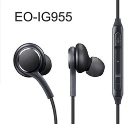 earphone for samsung galaxy UK - 2019 new S8 Headset Genuine Black In-Ear Headphones EO-IG955BSEGWW Earphones Handsfree For Samsung Galaxy S8 & S8 Plus OEM Earbuds