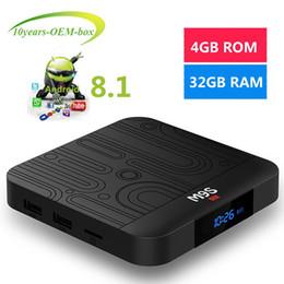 Tv Media Player Wifi Australia - Newest M9S J1 Android 8.1 Tv Box Quad Core 4GB 32GB RK3328 2.4G Wifi H.265 USB 3.0 ott tv Media Player Better S905W A5X Max H96 MAX S905X2