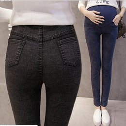 3e3a34463a Plus Size Linen Clothing For Women NZ - Elastic Waist Cotton Maternity Jeans  Pants For Pregnancy