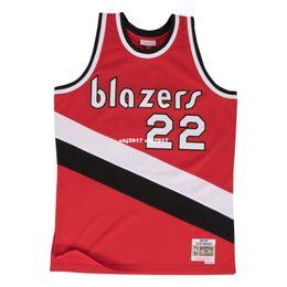 $enCountryForm.capitalKeyWord Australia - Clyde Drexler #22 Sewn Mitchell & Ness high quality Vintage Jersey - Red Mens Vest Top Size XS-6XL Stitched basketball Jerseys Ncaa