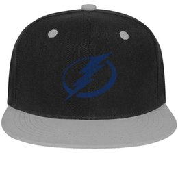 Cotton Bay Australia - Tampa Bay Lightning BLUE Distressed series Unisex Man's Caps Women's Caps Stylish Cotton Snapback Flatbrim Hard Hats Baseball Caps for Men