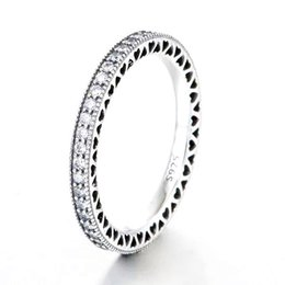Ring Fit Women Australia - 30% Silver Women Ring Hearts of Shine Ring Girl Gift Finger anel Pave Crystal Clear CZ fit Lady Jewelry