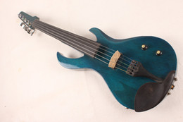 green guitar flame Australia - 5 String Electric Violin New 4 4 Flame guitar shape Solid wood Powerful Sound fret 1-5#
