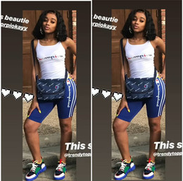 Hot girls sHort tank online shopping - Letter Printed Champions Women Tracksuit Summer Outfits Tank Tops Vest Shorts Pieces Sports Suit S XL Sportswear Joggers set Hot A32607