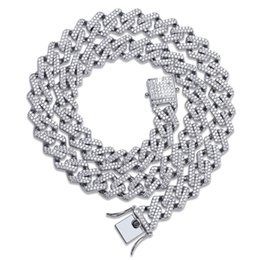 cz chains Australia - 14mm Miami Prong Set Cuban Chains Necklace For Men Gold Silver Color Hip Hop Iced Out Paved Bling CZ Rapper Necklace Jewelry T190907
