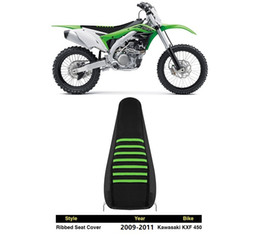 $enCountryForm.capitalKeyWord NZ - 2009-2011 KXF450 pleated Ribbed Gripper Seat Cover Factory Outlet for KAWASAKI YAMAHA SUZUKI KTM BMW motocross OFFROAD racing parts