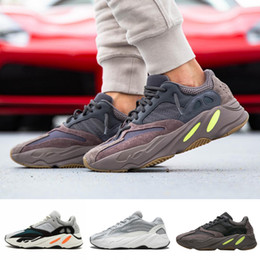 Chinese  Kanye West 700 Wave Runner Mauve EE9614 With Box Designer Men Seankers New 700 V2 Static Sports Running Shoes Size 36-45 manufacturers