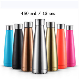 Discount thermos thermal bottle - 15oz  450ml Upgrade Cola Shape Water Bottle Premium Travel Coffee Mug 304 Stainless Steel Thermos Cups Vacuum Flask Tea