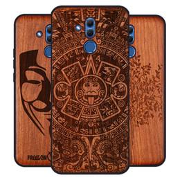Discount wood bumper case - 2019 New Huawei Mate 20 Lite Case Slim Wood Back Cover TPU Bumper Case For Huawei Mate 20 Lite Phone Cases Mate20 lite