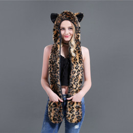 10abf6d06948d Trapper Style Hat Australia - Hot Russian Style Cartoon fur scarf Leopard-print  fashion hats