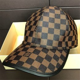 58e42672026 Luxury Design Spring Plaid Hats Fashion Men Women Sunshade Snapback Caps  Europe Style Autumn Outdoor Brown Baseball Cap Lover Gift with Box