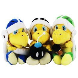 koopa troopa toys Australia - 23cm High Quality Super Mario Bros Knife Bomb Hammer Tortoise Koopa Troopa Plush Toy Soft Stuffed Gift For Children C2