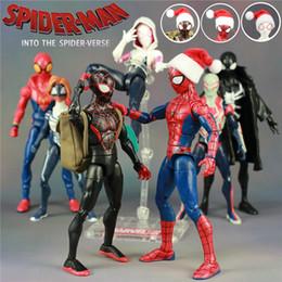 "12 Spiderman Figures Australia - Marvel 2018 Spiderman Into The Spider Verse Cartoon Movie 6"" Action Figure Peter Parker Man Miles Morales Gwen Legends Doll Toys Q190604"