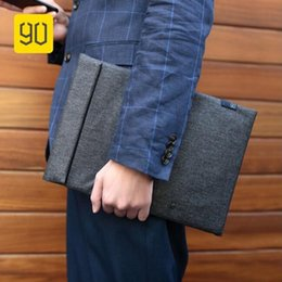 "13 Computer Sleeve Australia - Xiaomi 90FUN Laptop Sleeve & Accessories Bag Waterproof Solid Computer Bag Handbags Business Briefcase for MacBook Air 13"" #214893"