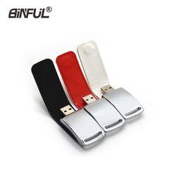 $enCountryForm.capitalKeyWord Australia - Keychain Leather Flash 4gb 8gb 16gb 32gb 64gb Business Pendrive Usb Thumb Capacity Pen Drive Memory Stick Metal Gift