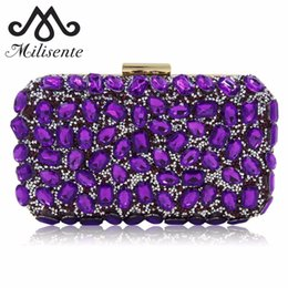 04aaf143e Milisente Women Evening Bag Gold Clutch Bags Ladies Blue Party Clutches  Purple Wedding Clutch Purses