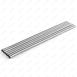 hot drinking straws Canada - Hot sales Durable stainless steel straight bent drinking straw Bending metal straw bar home kitchen party accessories Free shipping