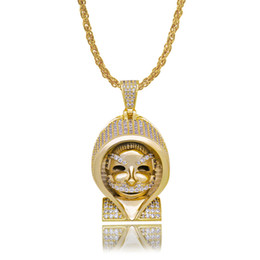 $enCountryForm.capitalKeyWord Australia - New Fashion Iced Out Wizard Hip Hop Pendant Necklace Mens Gold Color Charm Chain Pendant Body Jewelry Gifts