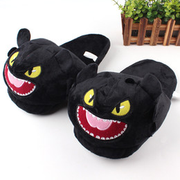 $enCountryForm.capitalKeyWord NZ - How To Train Your Dragon Plush Slipper Night Fury Toothless Stuffed Slipper Winter Indoor Warm Shoes MMA1563