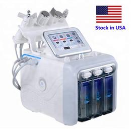Stock en EE. UU. 6 en 1 Hidradermabrasión Scrubber de piel RF Hammer de enfriamiento ultrasónico Spray de oxígeno SPA Máquina facial en venta