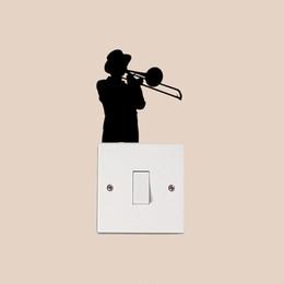 Media Player Live Australia - Boy Music Trumpet Player Fashion Decor Wall Decals Vinyl Switch Stickers