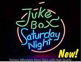 Public Box Australia - 19X15 Inches Juke Box Saturday Night Real Glass Neon Sign Beer Bar Pub Light Handmade Artwork GIFT Fast Shipping