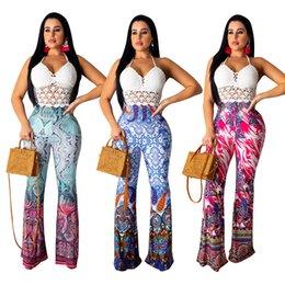 Wholesale paisley print leggings resale online – Paisley Printed Boot Cut Pants For Women Long Sexy Lady Pant Women Waist Slim Bootcut Pants Women Fashion Sexy Trousers Leggings