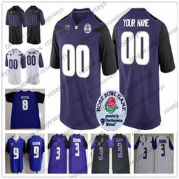 washington huskies football jerseys 2019 - Custom Washington Huskies  College Football Black Purple White Stitched Any 65bfbf6a4