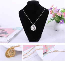 Pendant Backs Australia - Styles I Love You To The Moon and Back Necklace 120pcs lot Lobster Clasp Hot Pendant Necklaces