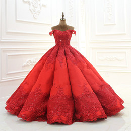 $enCountryForm.capitalKeyWord UK - 2019 Real Pictures Luxury Off Shoulder Ball Gown Prom Dress Vintage Lace Appliqued Evening Quinceanera Gown Plus Size Formal Party Dresses