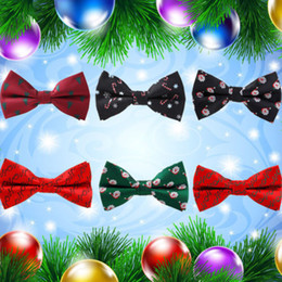 $enCountryForm.capitalKeyWord Australia - Christmas Adjustable Classic Novelty Men Tie Fashion Bow Tie Satin Silk Hot Necktie