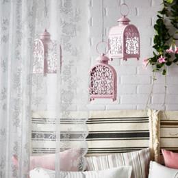 iron art metal craft 2019 - Morocco Candlestick Ornament Iron Candle Holder Hollow Candlestick Crafts For Home Wedding Lantern Decoration Birthday G