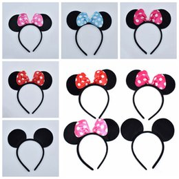 Party kids mouse online shopping - 5 Color Girls Hair Accessories Mouse Ears Headband Children Hair Band Baby Kids Cute Halloween Christmas Cosplay Headdress Hoop Gift RRA2262
