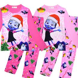 1de9225388 Kids Vampire Pajamas christmas Vampire Girls Print sleepwear girl Cartoon  Homewear Pyjamas Long Sleeve t-shirts +pants 2 Set Nightgown sale