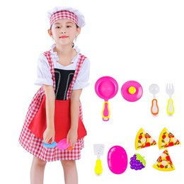 $enCountryForm.capitalKeyWord Australia - Halloween Cosplay Girls Kid Clothes Baker Chef Uniform Matching Chef Hat Toys 4T-8T Carnival Role Play Girl Prom Gown Costume
