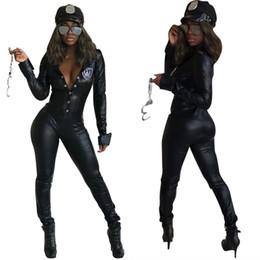 Leather Fashion Jumpsuits Australia - women's set Clothing explosion models leather Slim personality PU leather jumpsuit Women Clothes Two Piece Sets 2 piece