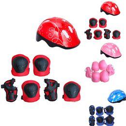 kids safety helmets 2019 - Boys Girls Childs Kids Safety Helmet & Knee & Elbow Pad Set Cycling Skate Bike cheap kids safety helmets