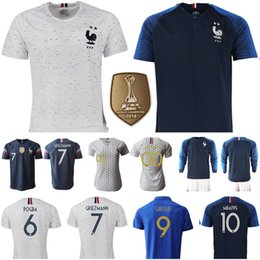 Discount france jersey soccer football - Men Women Kids France Jersey Soccer LE SOMMER THINEY HENRY RENARD KYLIAN MBAPPE GRIEZMANN PAUL POGBA GIROUD LEMAR KANTE