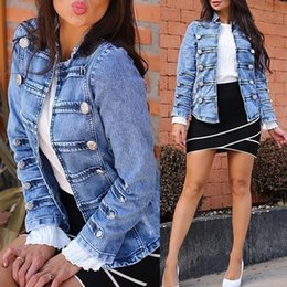 $enCountryForm.capitalKeyWord Australia - Tops Jacket Double-breasted Coat Bomber Womens Long Sleeve Motor Outwear Button Down Jeans