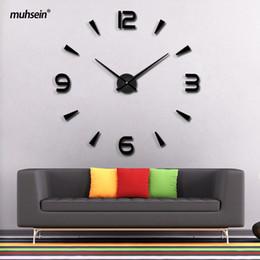 $enCountryForm.capitalKeyWord NZ - 3D Wall Stickers DIY Wall Clocks 2018 New High Quality Art Design Clock Creative Fashion Living Room Clocks Home Decoration Large Wall Clock