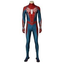 $enCountryForm.capitalKeyWord UK - ostumes Accessories Cosplay Costumes Insomniac PS4 Game Marvel's Spider-Man Cosplay Costume Spiderman Jumpsuit Zentai Bodysuit Superhero ...