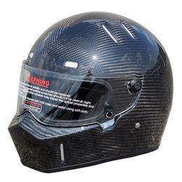 $enCountryForm.capitalKeyWord NZ - Karting Car Full Face Helmet Carbon Fiber Helmet Motorcycle Cool Black Riding Racing Helmets Visor Moto Motocross Off Road Touring XS-XXL