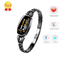 H8 smart watcH online shopping - H8 smart watch women smart wristband bracelet Heart Rate Monitor blood pressure blood oxygen smart band best gift for Lady pk iwatch