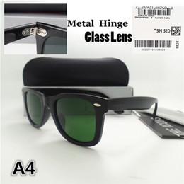 $enCountryForm.capitalKeyWord NZ - High quality Metal hinge Glass lens Plank frame Brand Designer Fashion Men Women Sunglasses Sport Vintage Sun glasses With box
